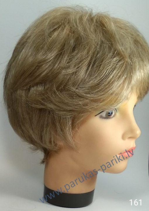 Parūka no gaišiem īsiem sirmiem matiem